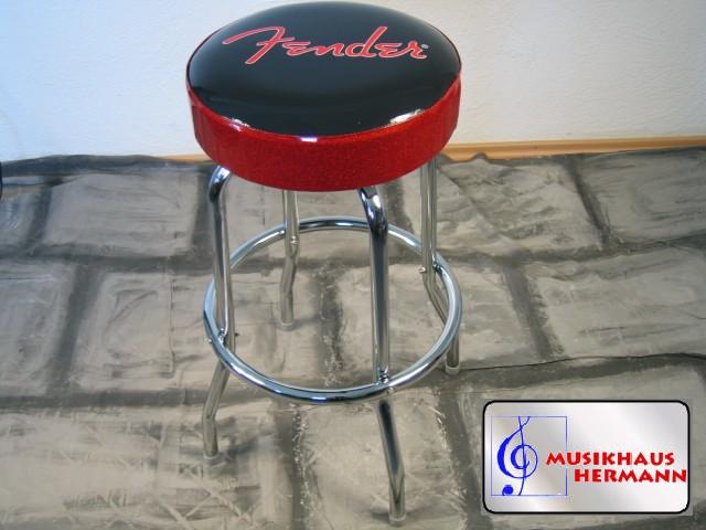 Fender barhocker 30 h he bar stuhl logo in rot for Billige barhocker