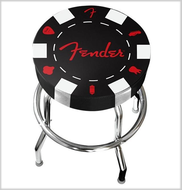 Fender barhocker 24 h he bar stuhl custom shop poker for Billige barhocker