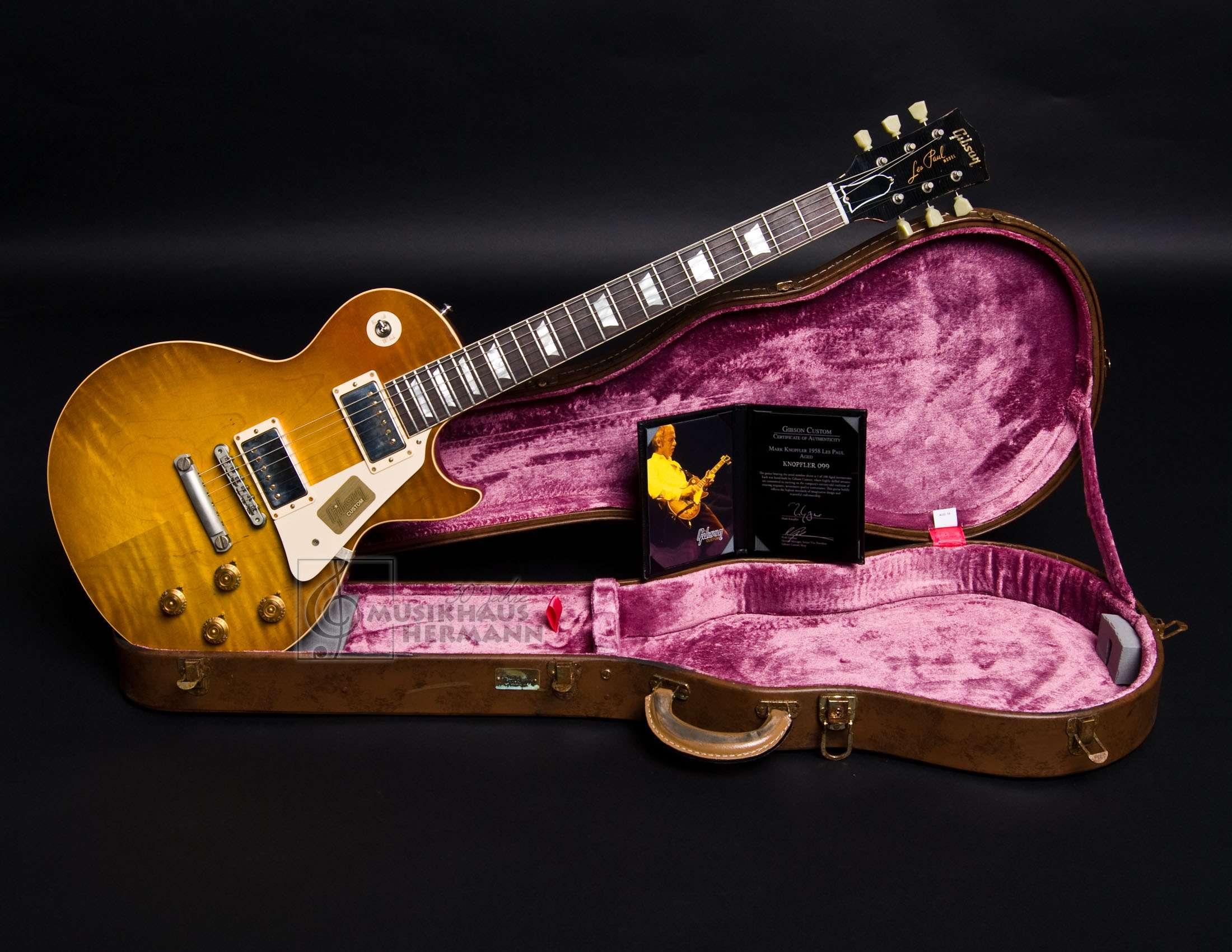 Gibson Mark Knopfler 1958 Les Paul Standard aged
