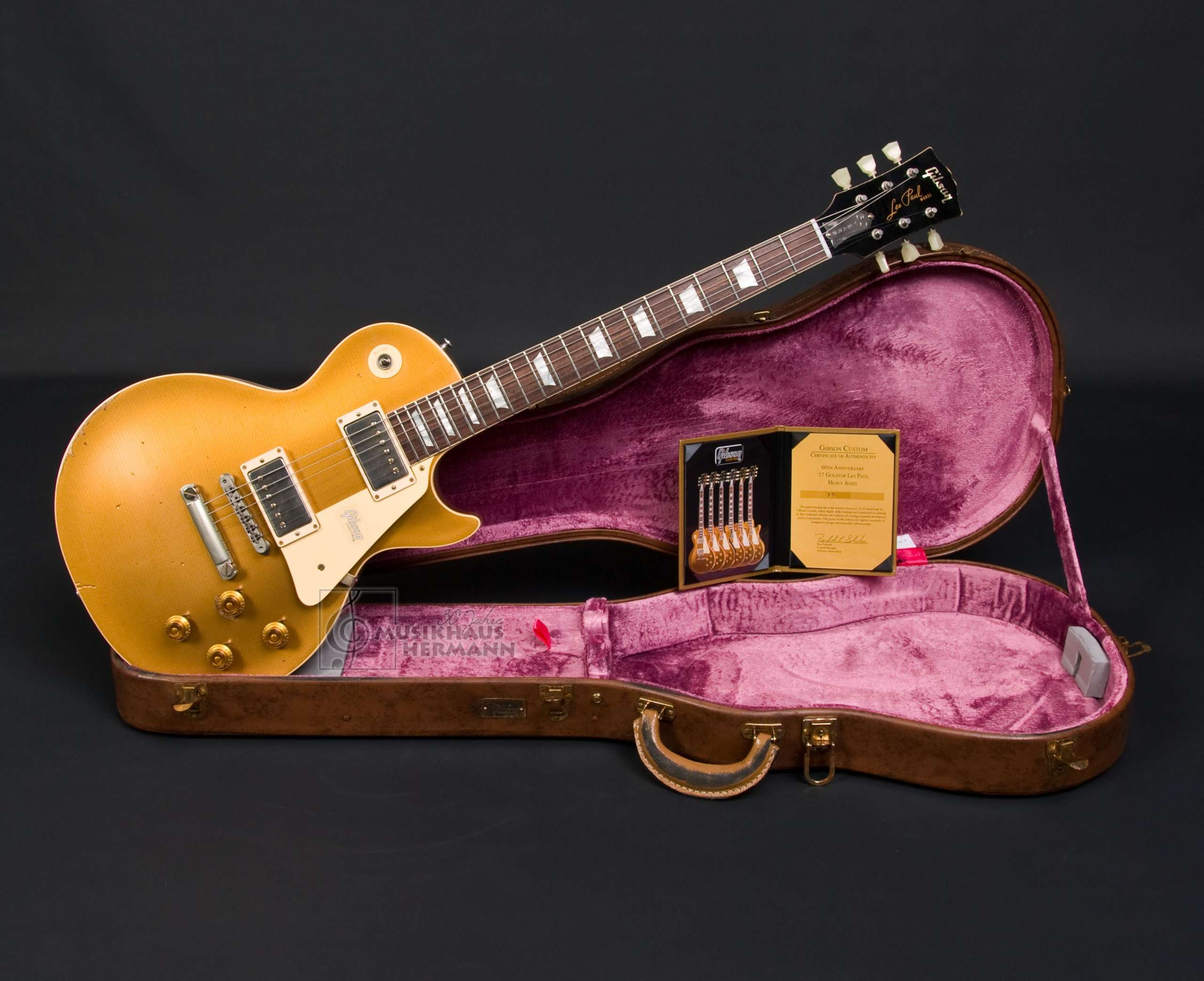 Gibson Les Paul 1957 Goldtop 60th Anniversary Heavy AGED Antique Gold
