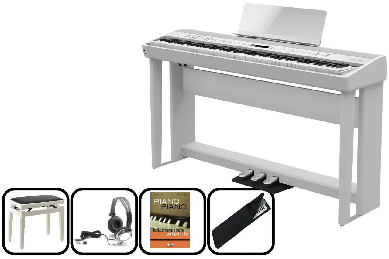 Roland FP-90 WH Portables E-Piano - weiss - Home Set FP-90-WH Home Set
