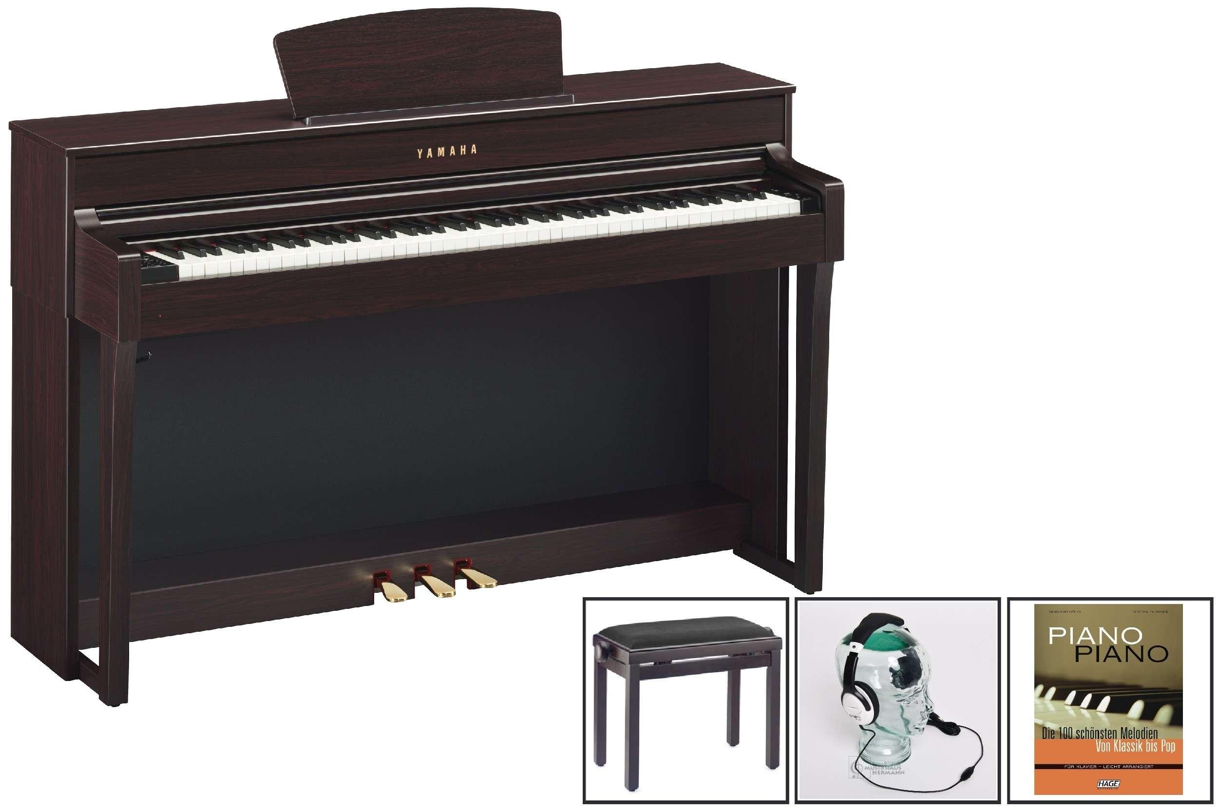 Yamaha CLP 635 Clavinova Rosenholz Bundle Set 1