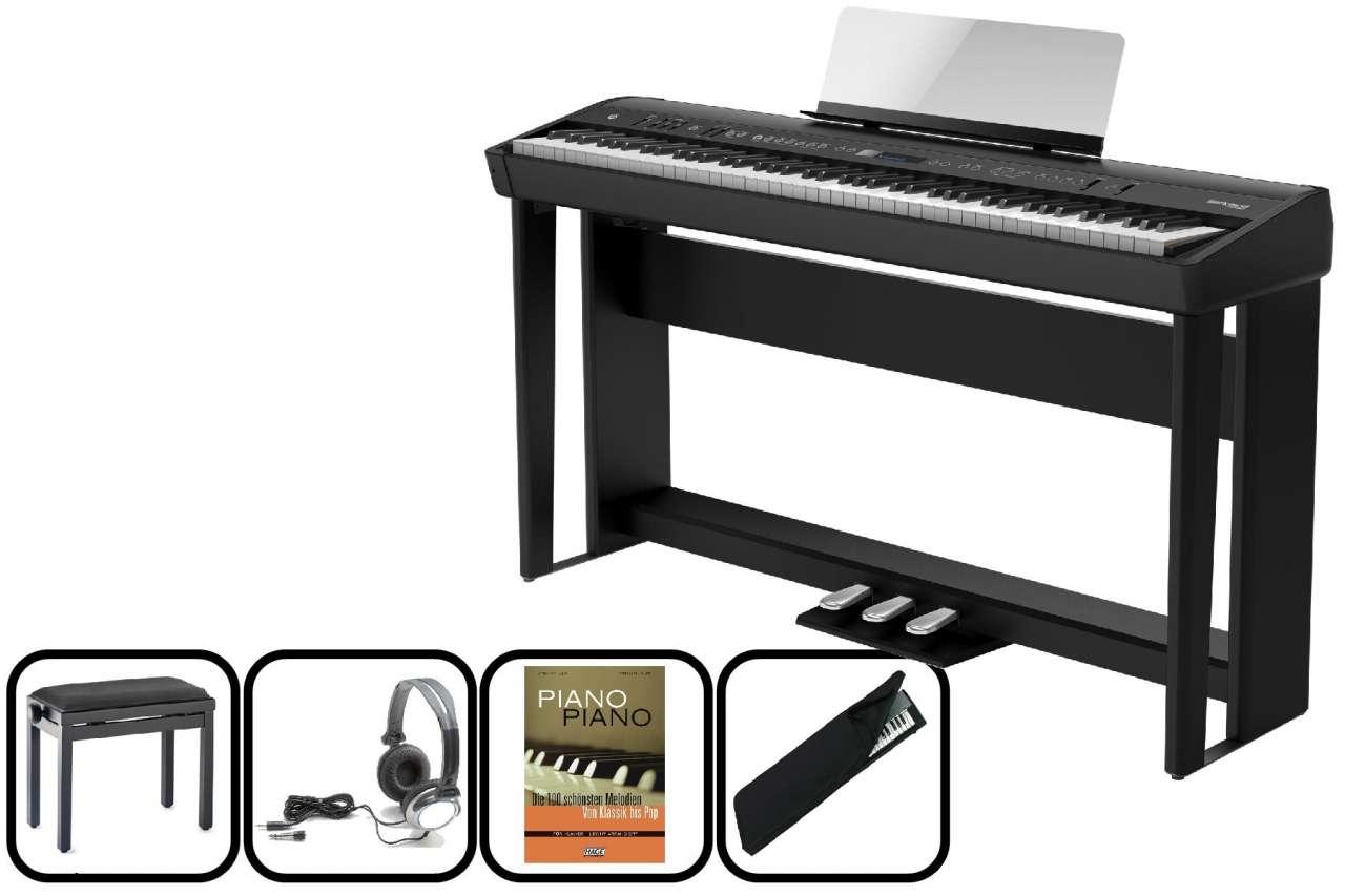 Roland FP-90 BK Portables E-Piano - schwarz - Home Set FP-90-BK Home Set
