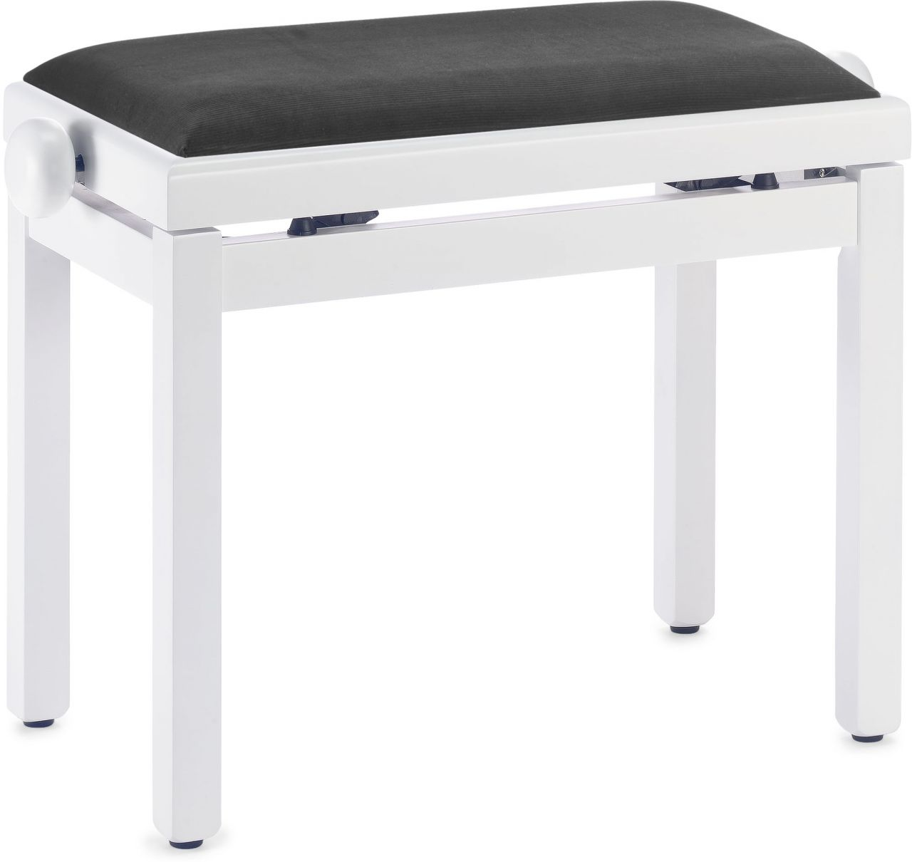 Sonstige Pianobank - Klavierbank - Klavierhocker - weiss matt PB39 WH M V/BK