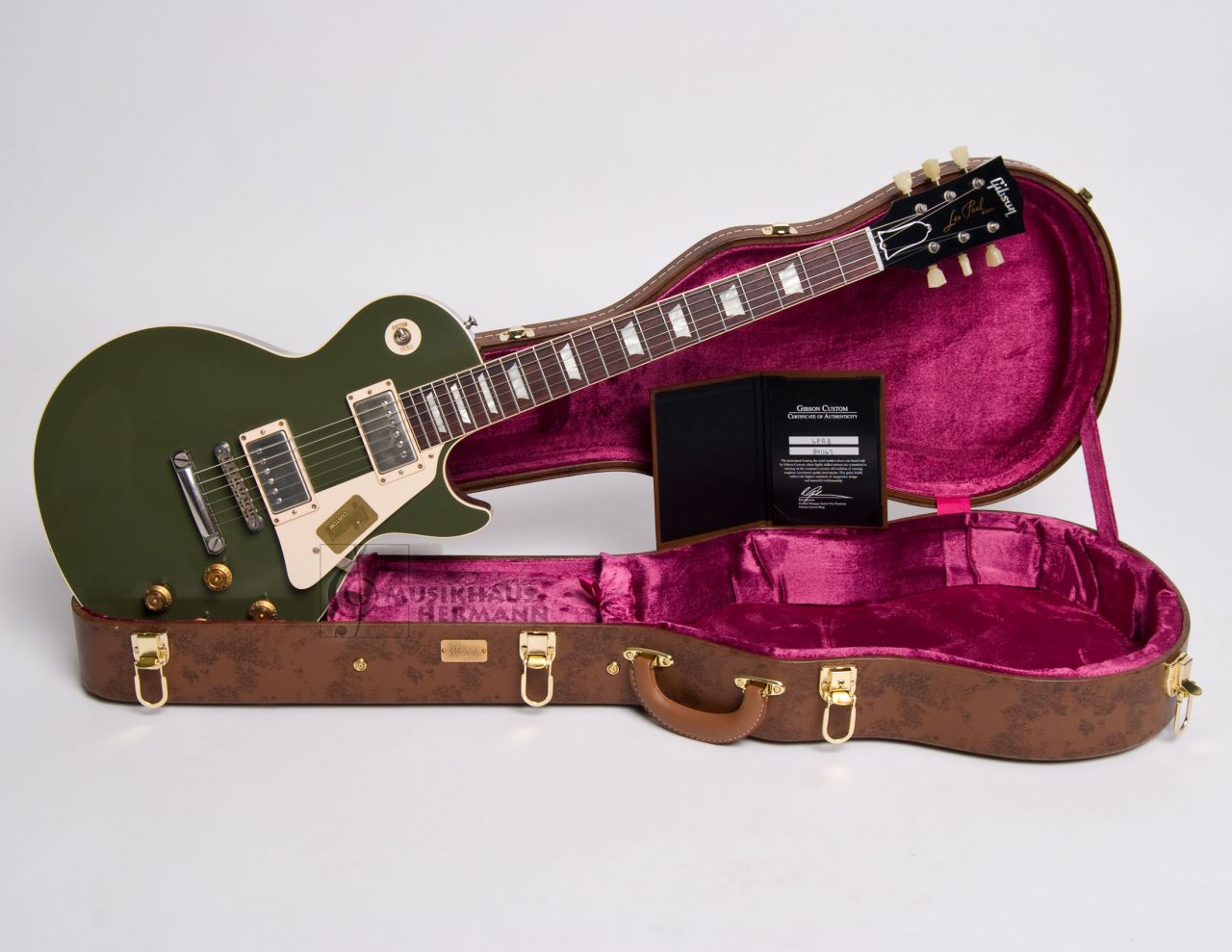Gibson Les Paul 1958 Reissue VOS 2014 - Olive Grape Green - handselected BCLPR8MHVOOLNH1