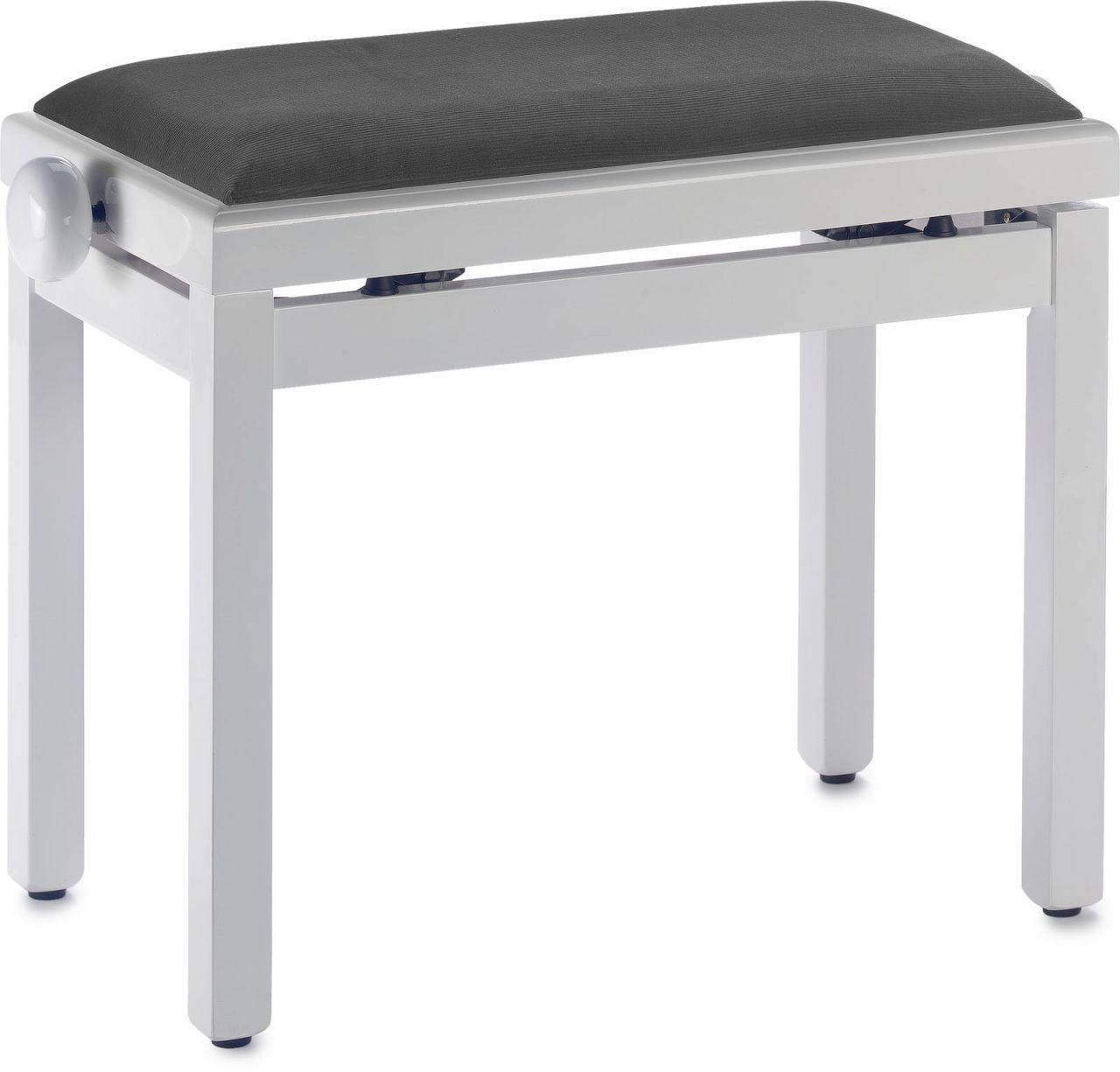 Sonstige Pianobank - Klavierbank - Klavierhocker - weiss hochglanz poliert PB39 WHP V/BK