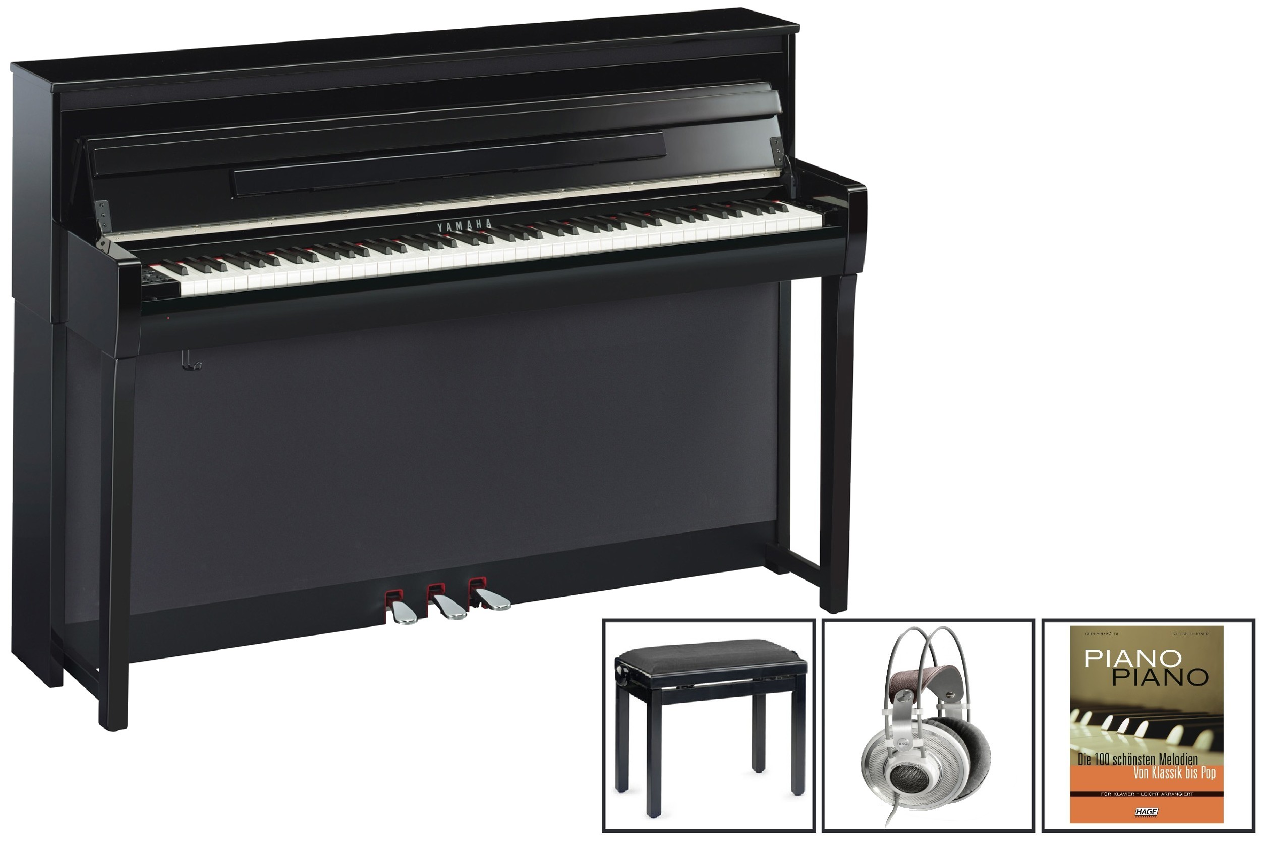 yamaha clp 685 clavinova exklusiv set 1 musikhaus. Black Bedroom Furniture Sets. Home Design Ideas