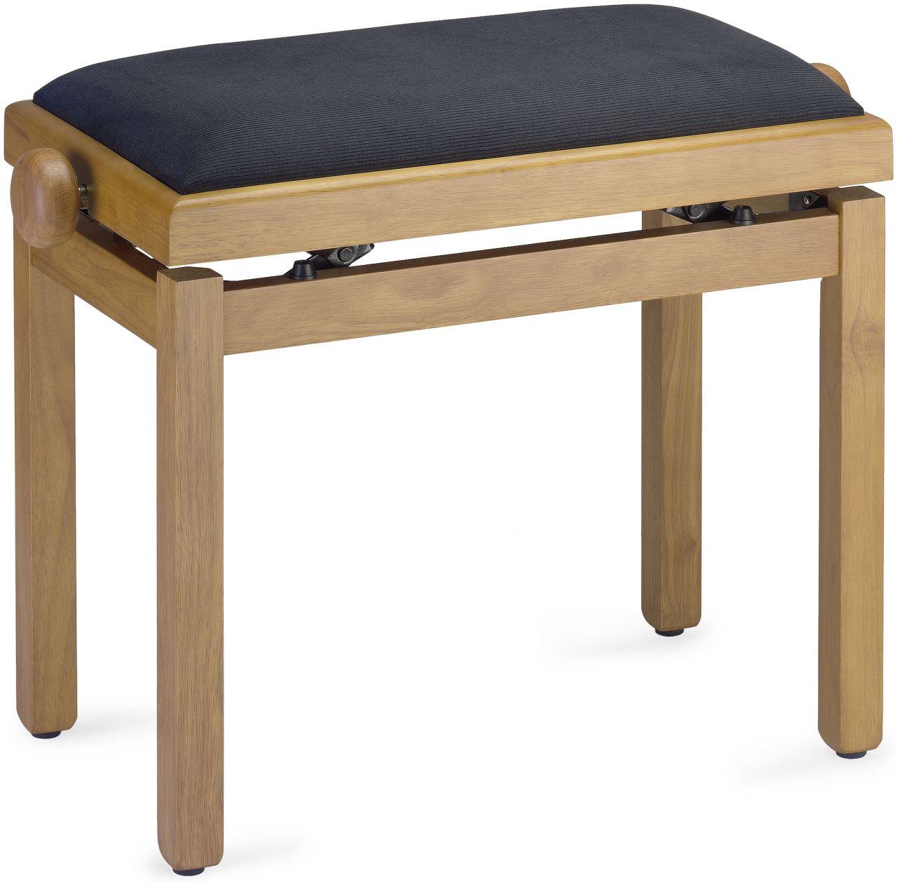 Sonstige Pianobank - Klavierbank - Klavierhocker - natur matt PB39 NAT M V/BK