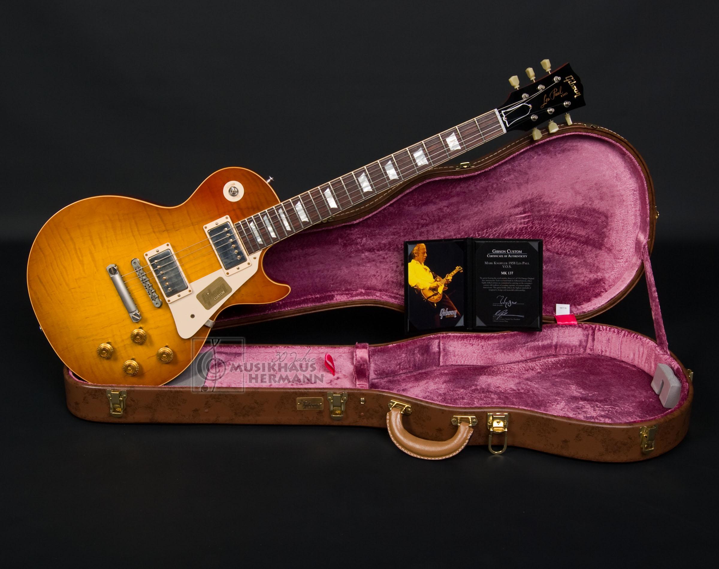 Gibson Mark Knopfler 1958 Les Paul Standard VOS