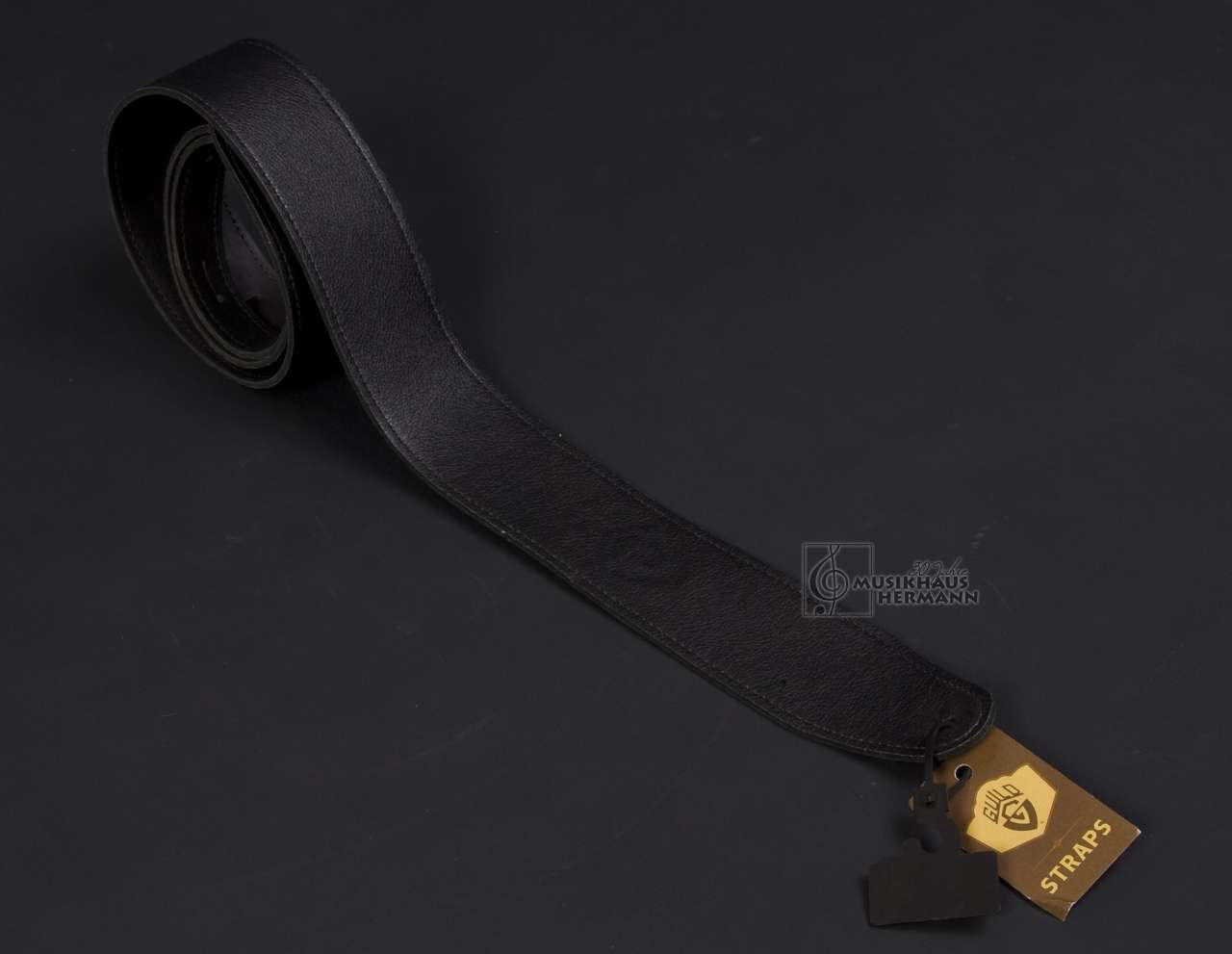 Gitarrengurt Guild USA Leder Standard - schwarz 350-0611-051