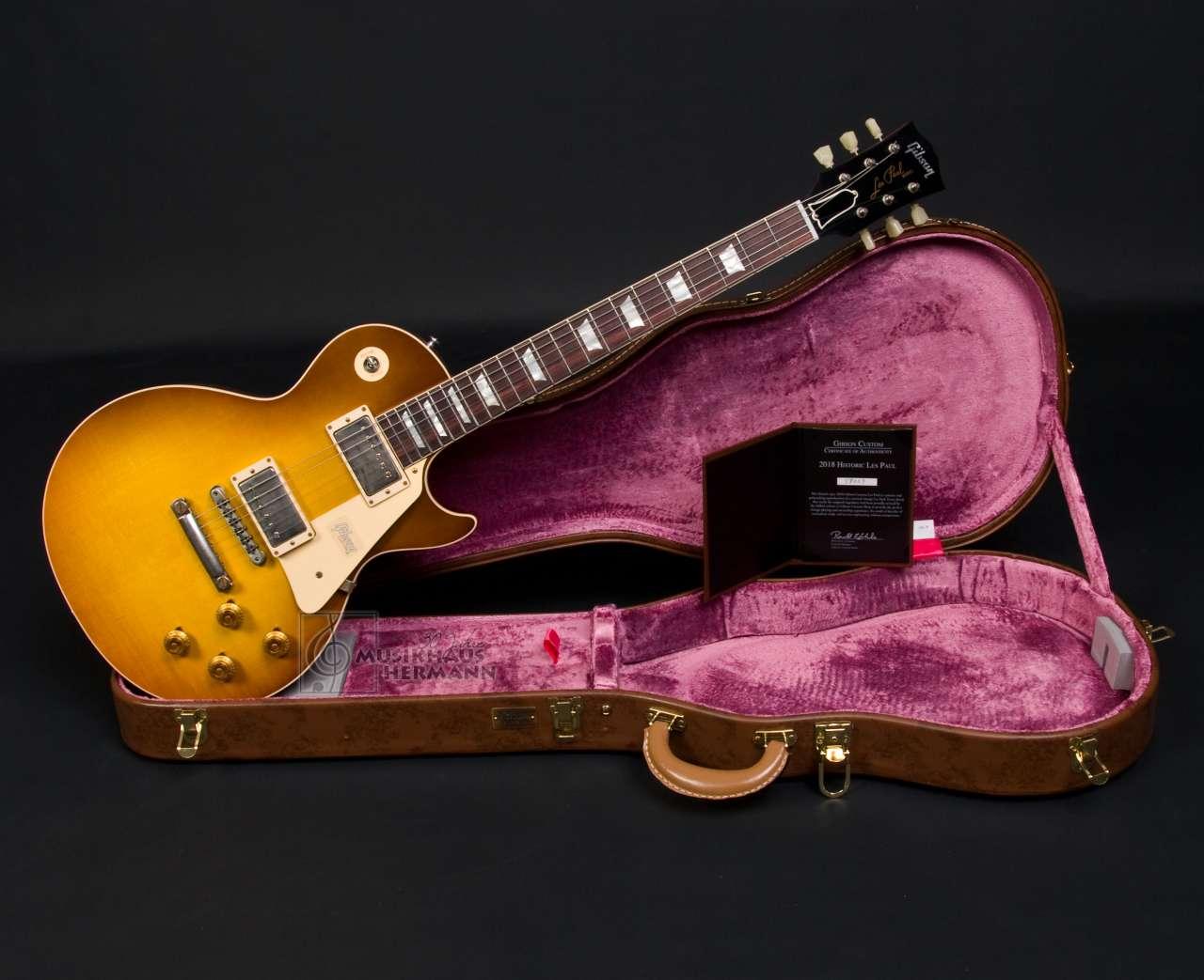 Gibson Les Paul 1958 Custom Historic 2018 - Royal Teaburst VOS LPR58VORYTNH1